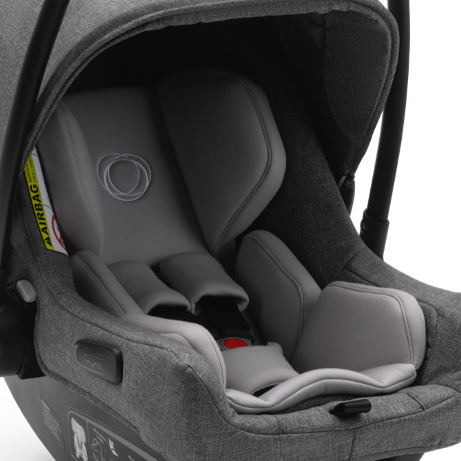 Bugaboo Turtle Air by Nuna grey car seat with infant inlay