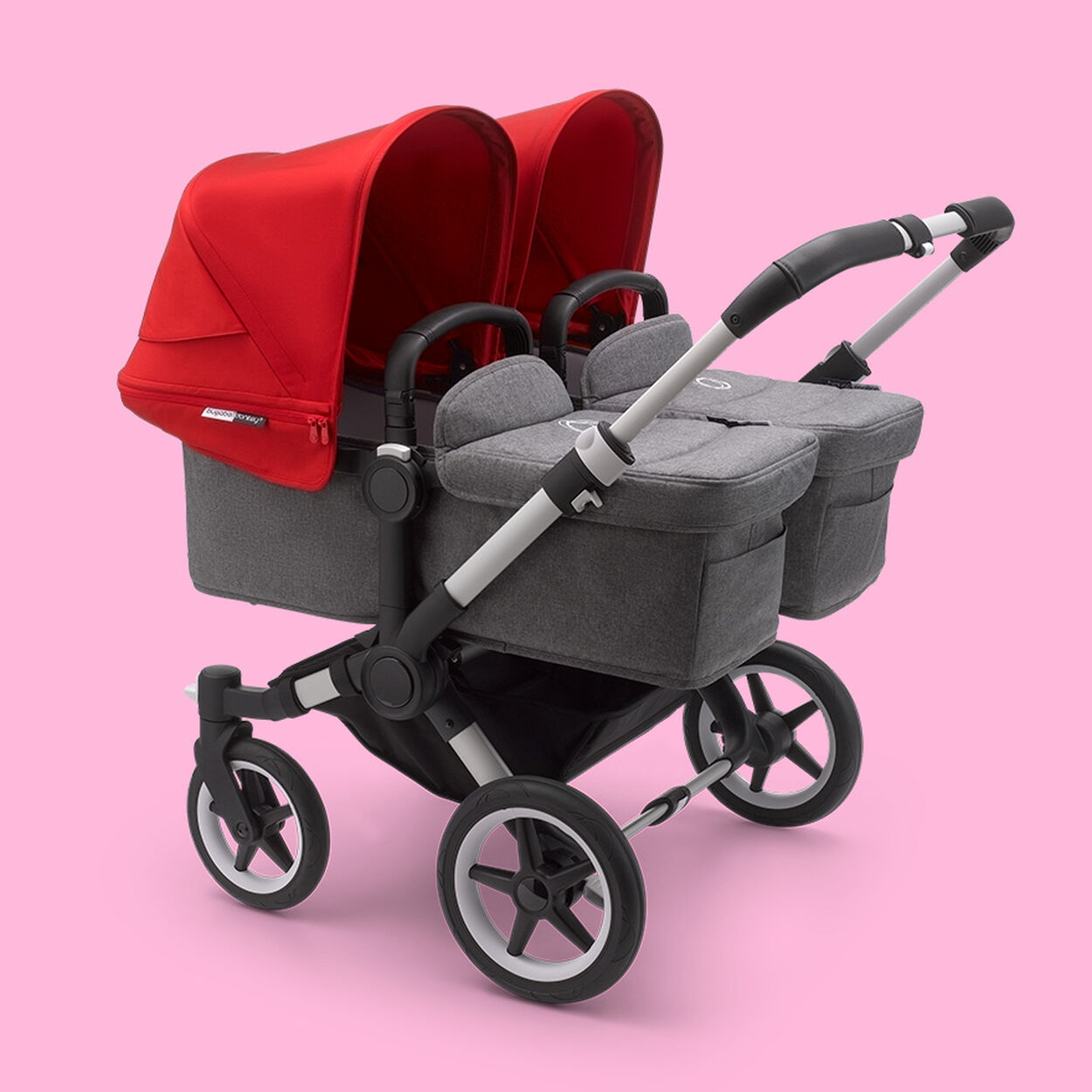 Donkey 3 Twin stroller with two bassinets