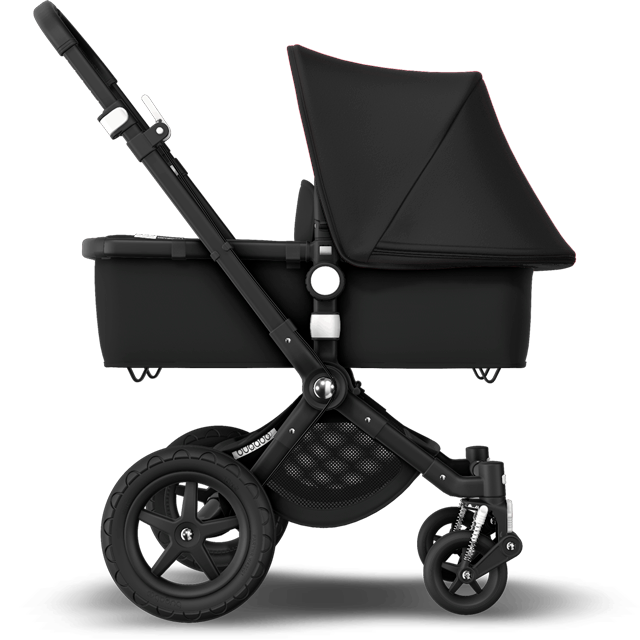 Side view of the Cameleon 3 Plus stroller with the bassinet for newborns.