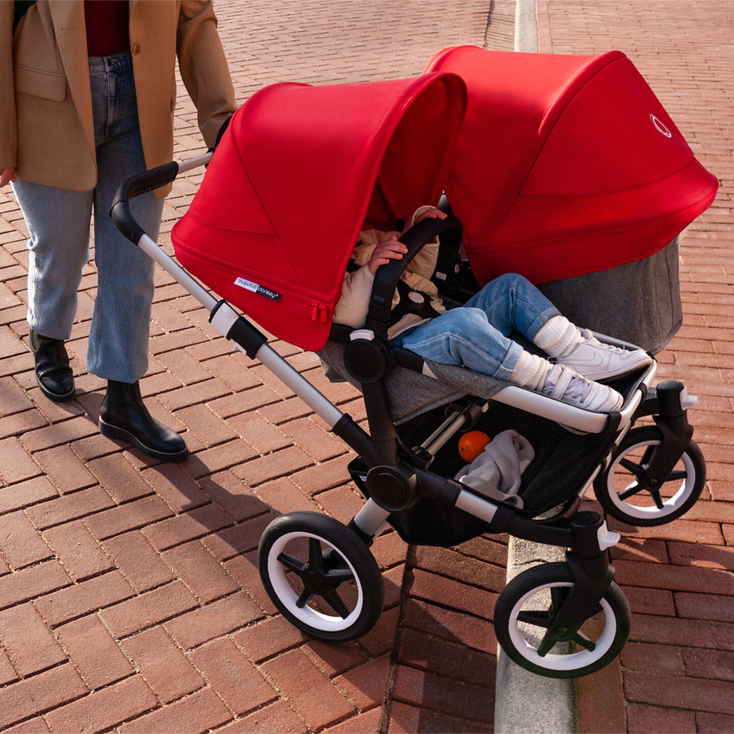 Stroller going up a curb