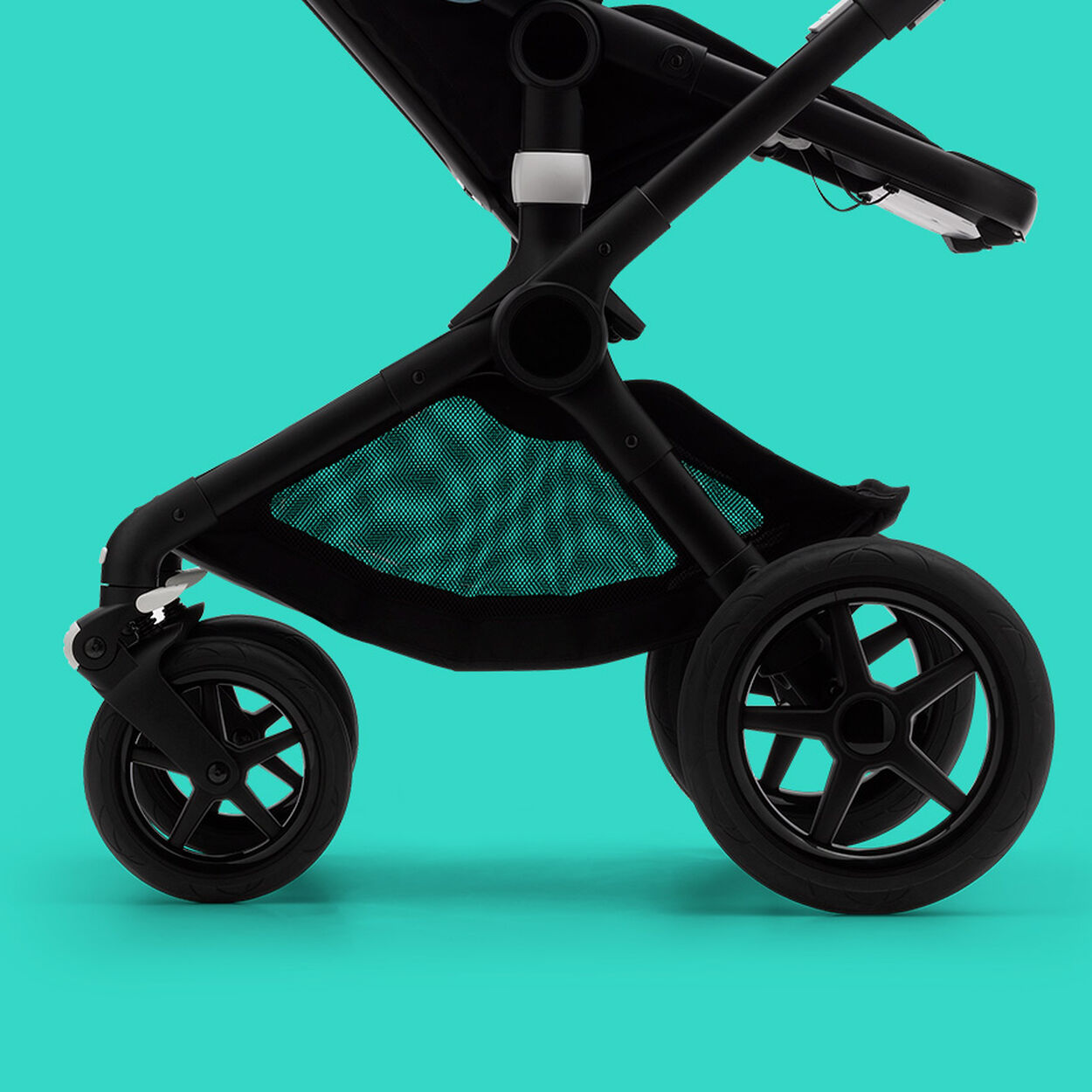 Fox 2 stroller wheels and underseat basket