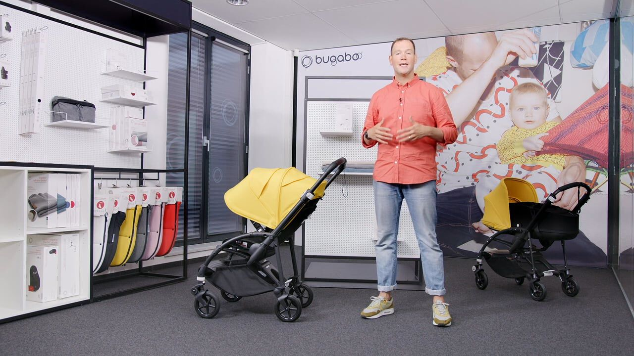 Demonstration video of the Bugaboo Bee 6 displaying the key features of the stroller