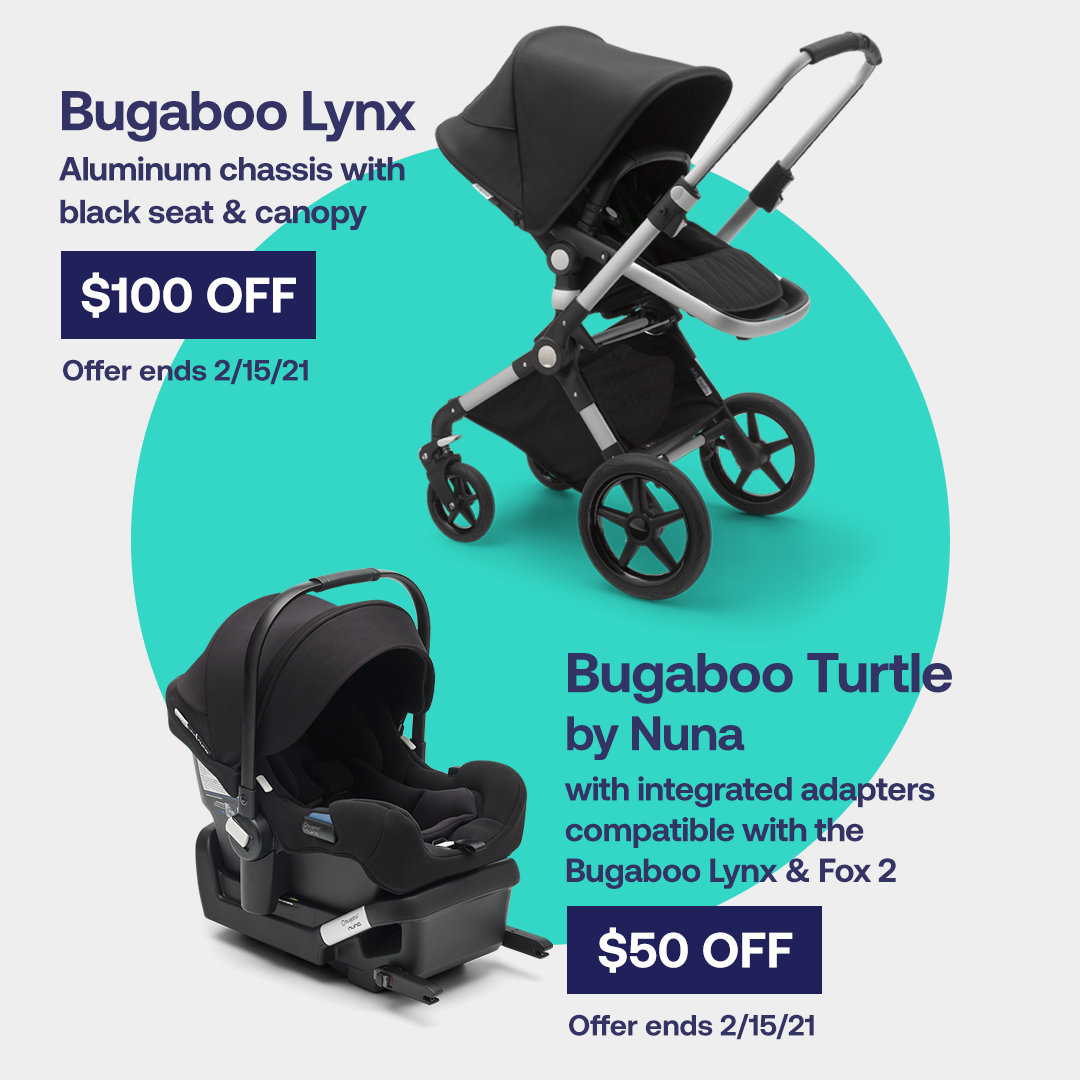 Bugaboo Lynx stroller and Turtle car seat