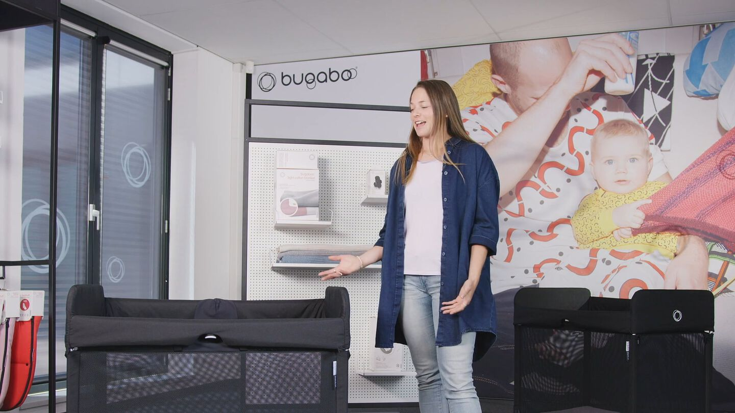 Bugaboo Stardust travel cot fold unfold video