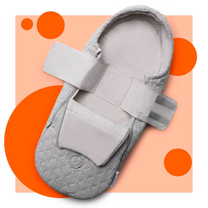 Light Grey Melange Bugaboo Newborn Inlay Suitable from Birth up to 6 Months