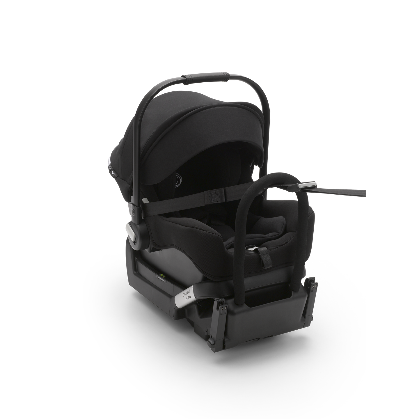Bugaboo Turtle by Nuna baby capsule with a base