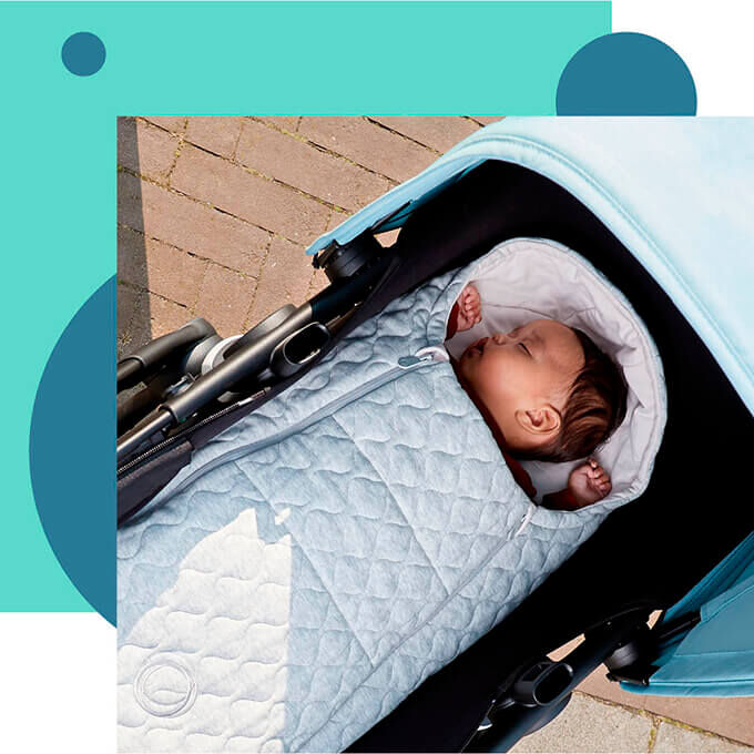 New Bugaboo newborn inlay: suitable from birth up to 6 months old.
