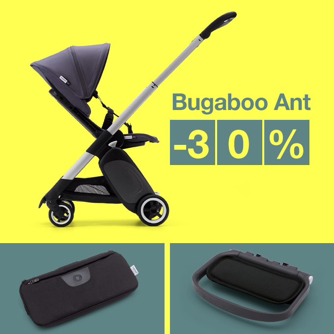 Bugaboo Ant stroller and accessories promo