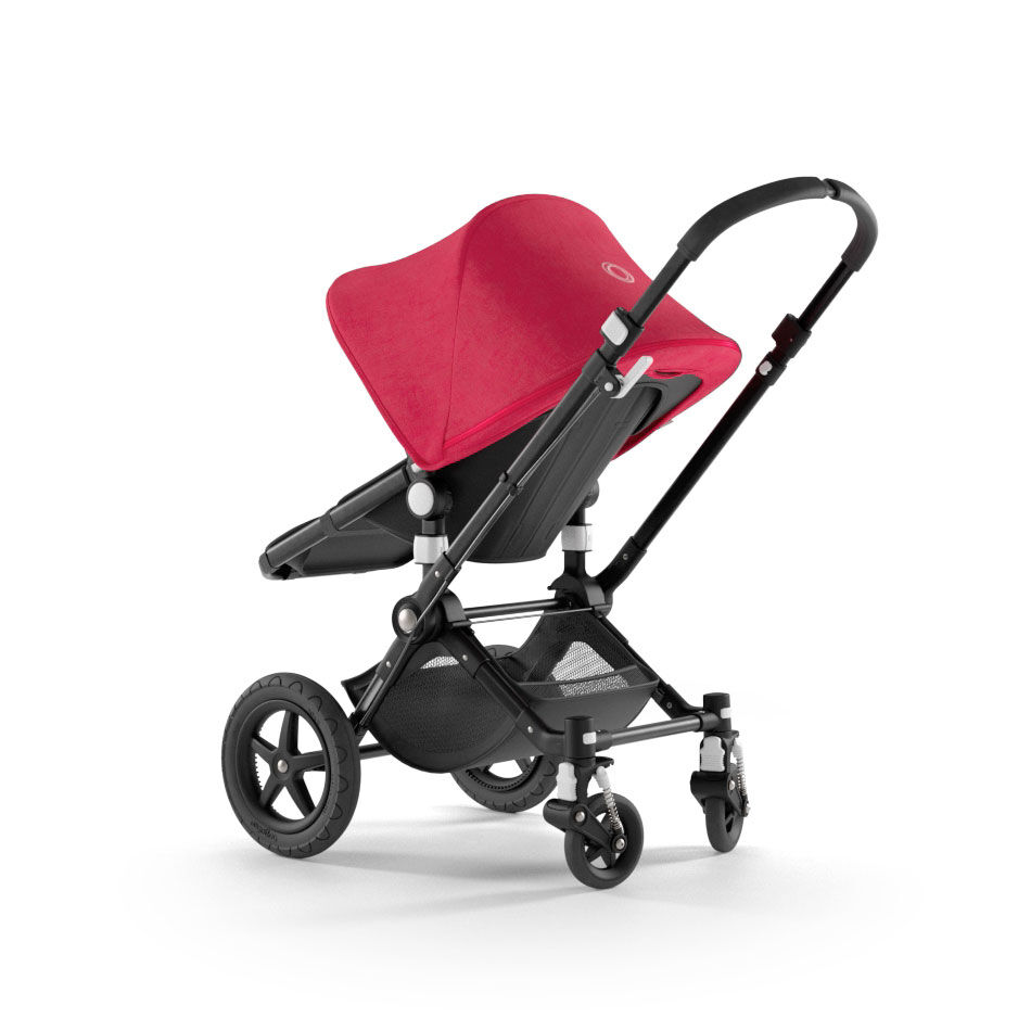 Reversible handlebar function illustration on the Bugaboo Cameleon 3 Plus stroller.