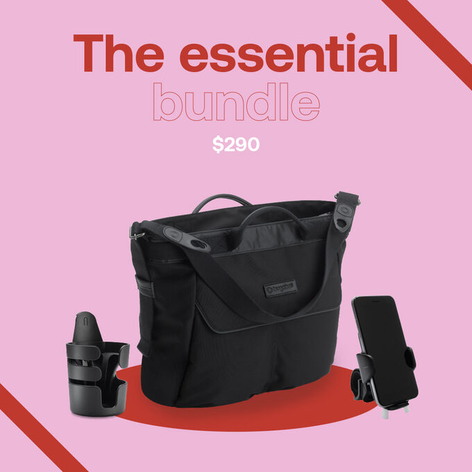 Bugaboo Essential accessories pack : changing bag, smartphone holder and cupholder