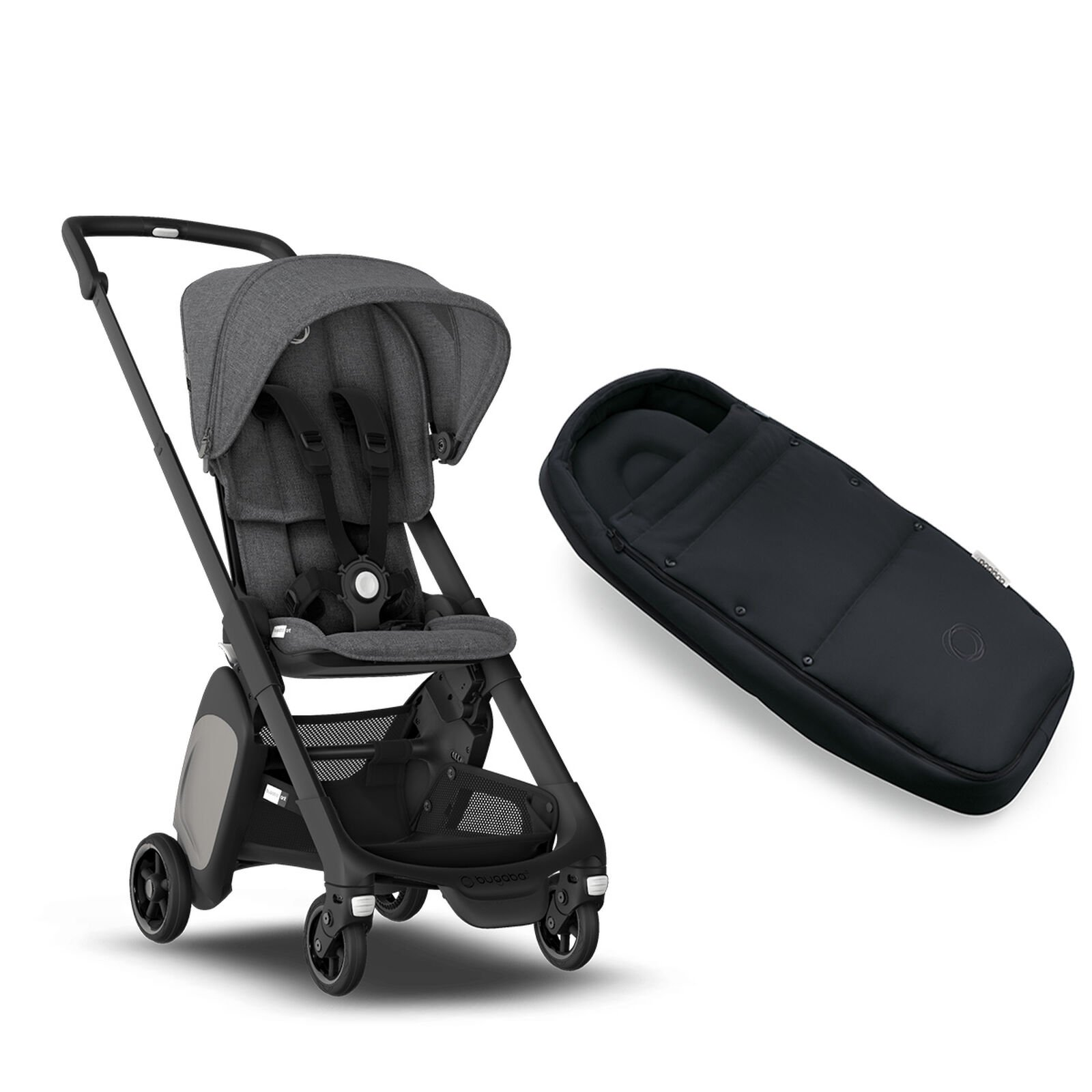 Bugaboo Ant and Cocoon bundle grey mélange sun canopy ...