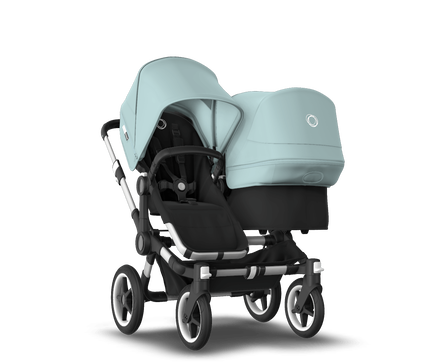 US - Bugaboo D3D stroller bundle aluminum black vapor blue