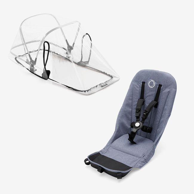 Bugaboo Donkey2 duo fabric set BLUE MELANGE