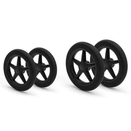 Bugaboo Donkey/Buffalo wheels replacement set BLACK (4x)
