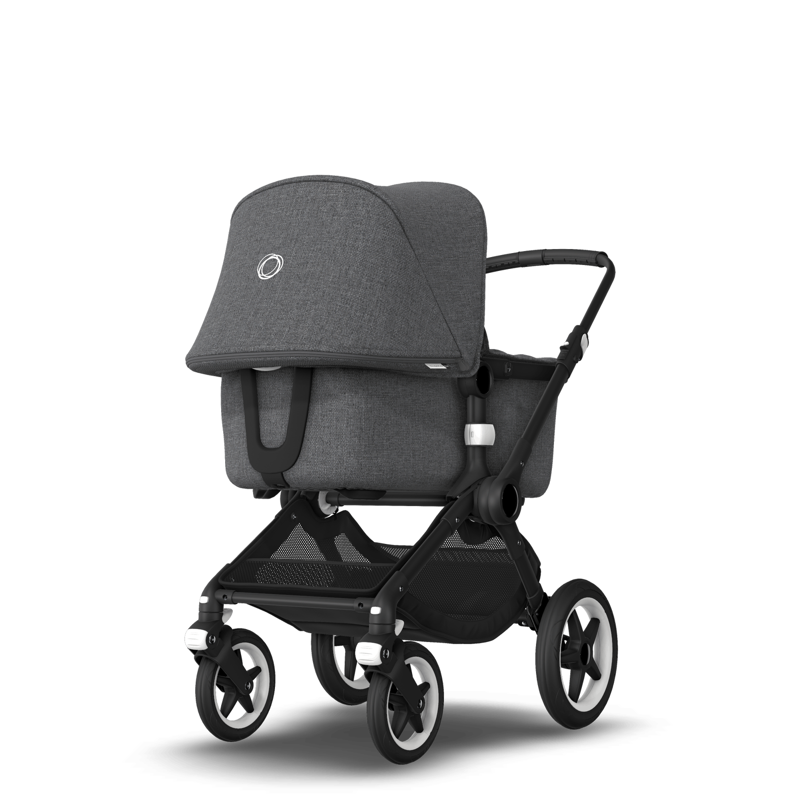 US - Bugaboo Fox stroller bundle black grey melange