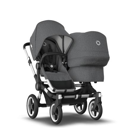 AU - Bugaboo Donkey 3 Duo Seat and Bassinet Stroller Grey Melange, Aluminum chassis