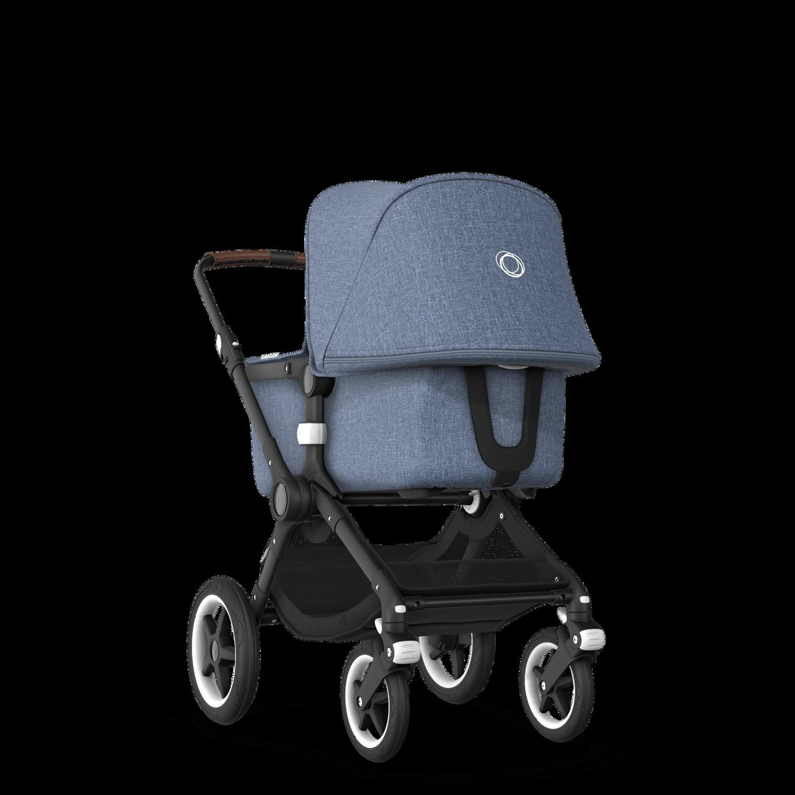 US - Bugaboo Fox stroller bundle Black blue melange