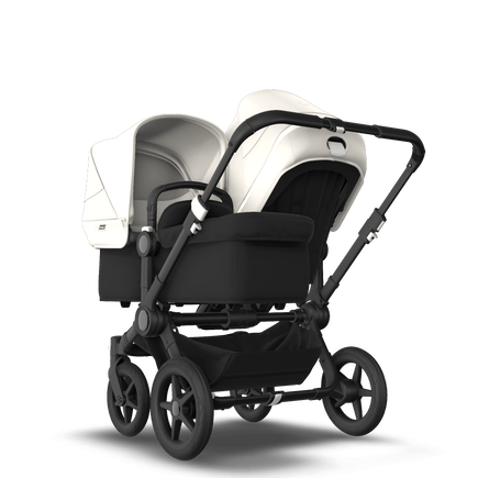 Bugaboo Donkey 3 Duo fresh white sun canopy, black seat, black chassis