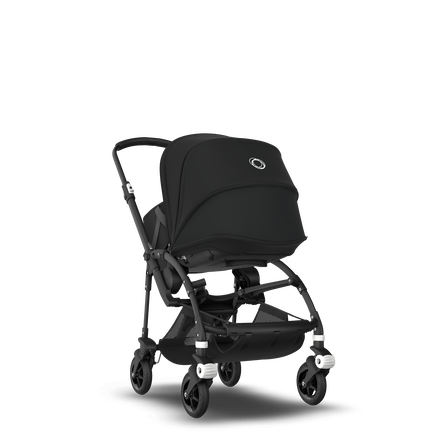 Bugaboo Bee 5 seat and bassinet stroller black sun canopy, black fabrics, black base