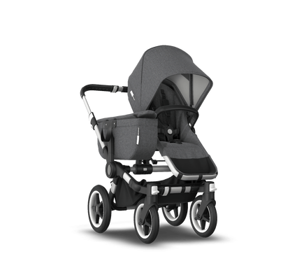 US - Bugaboo D3M stroller bundle aluminum grey melange grey melange