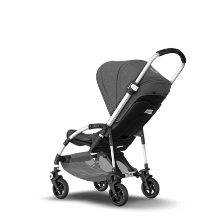 Bugaboo Bee 5 seat stroller classic collection grey melange sun canopy, classic collection grey melange fabrics, aluminium base