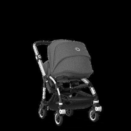 Bugaboo Bee 5 seat and bassinet stroller grey melange sun canopy, grey melange fabrics, aluminium base