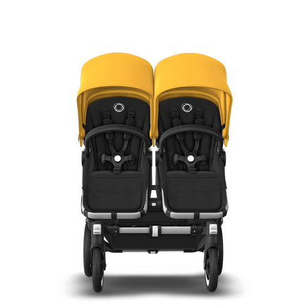 US - D2T stroller bundle aluminum, black, sunrise yellow