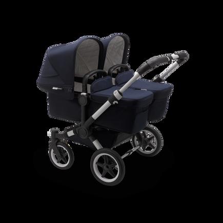 US - Bugaboo D3T stroller bundle aluminum classic dark navy complete