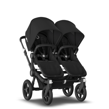 Bugaboo Donkey 3 twin black sun canopy, black seat, black chassis