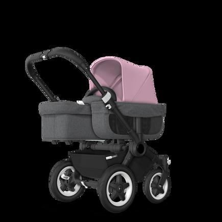 US - D2M stroller bundle black, grey melange, soft pink