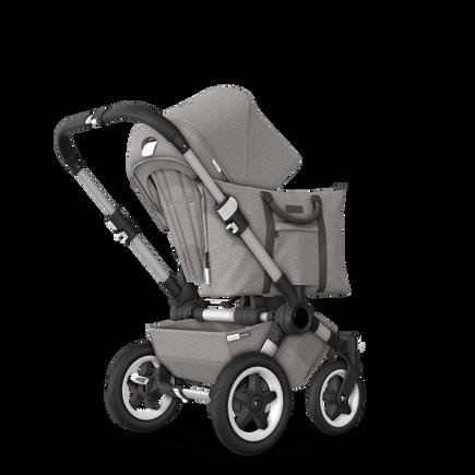 EU Bugaboo Donkey 2 Mono Seat and bassinet Mineral Light grey melange, aluminium Chassis