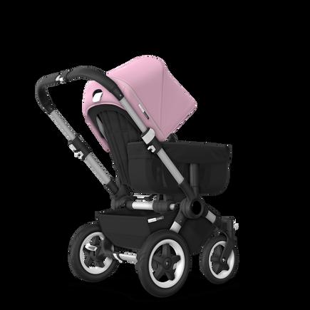 US - D2M stroller bundle aluminum, black, soft pink