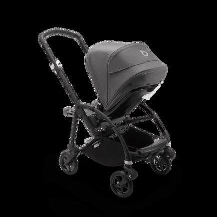 Bugaboo Bee 6 seat stroller grey mélange sun canopy, grey mélange fabrics, black base