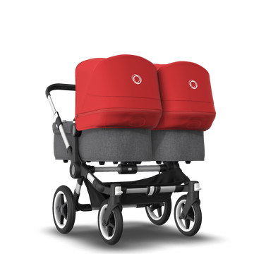 Donkey3 twin complete ALU/GREY MELANGE-RED