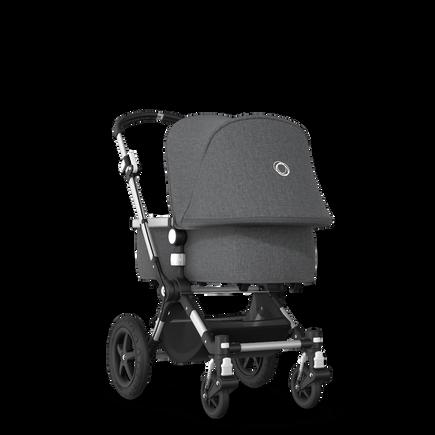 Bugaboo Cameleon 3 Plus seat and bassinet stroller grey melange sun canopy, grey melange fabrics, aluminium base