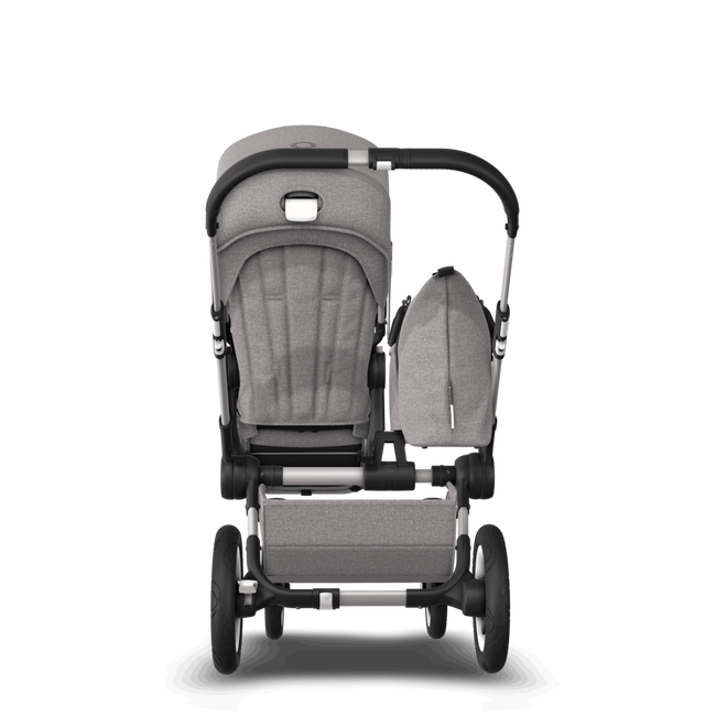 EU Bugaboo Donkey 2 Mono Seat and bassinet Mineral Light Grey melange, Black Chassis