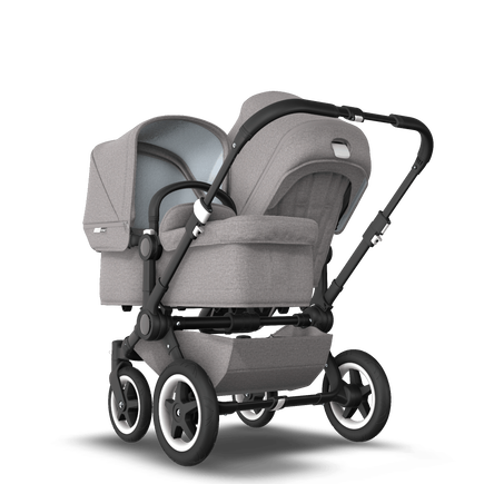 EU Bugaboo Donkey 2 Duo Mineral Light Grey Melange, Black Chassis