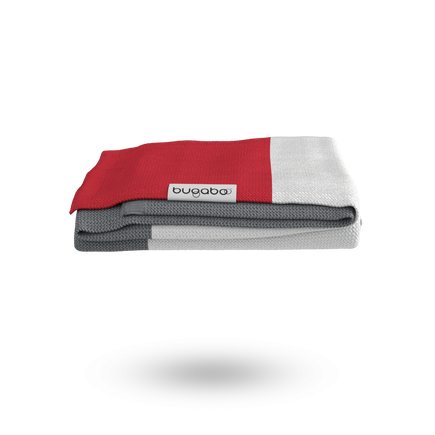 Bugaboo Light Cotton Blanket - NEON RED MULTI