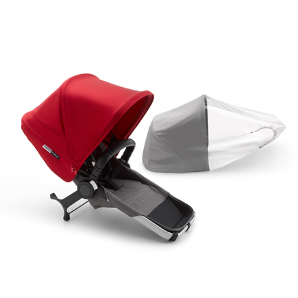 Bugaboo Donkey3 duo extension compl ALU/GREY MELANGE-RED