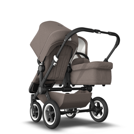 EU Bugaboo Donkey 2 Duo Mineral Taupe Melange, Black Chassis