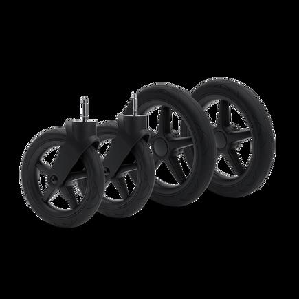 Bugaboo Donkey/Buffalo wheels replacement set BLACK (4x)