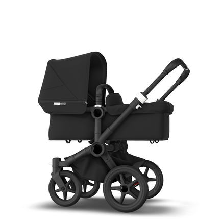 AU - Bugaboo Donkey 3 Mono Seat and Bassinet Stroller Black, Black chassis