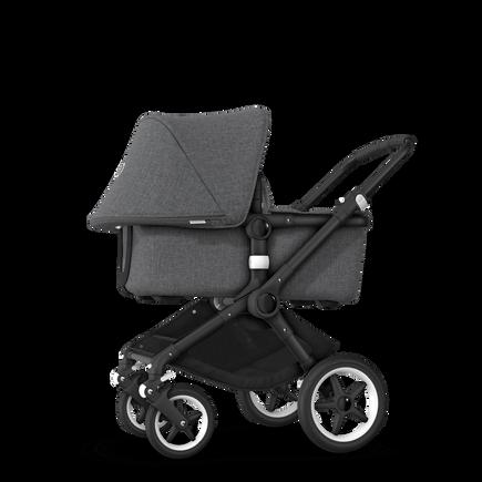 US - Bugaboo Fox stroller bundle black grey melange