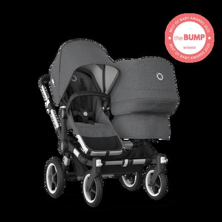 US - Bugaboo D3D stroller bundle aluminum grey melange grey melange