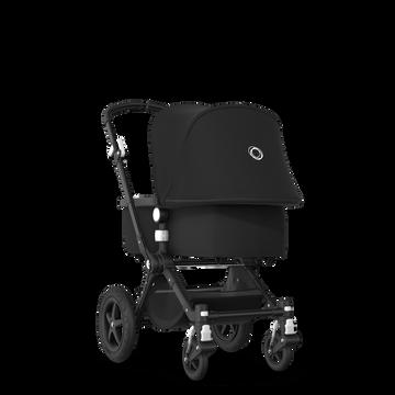 Bugaboo Cameleon 3 Plus travel system black sun canopy, black fabrics, black base