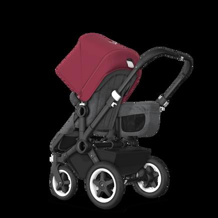 US - D2M stroller bundle black, grey melange, ruby red