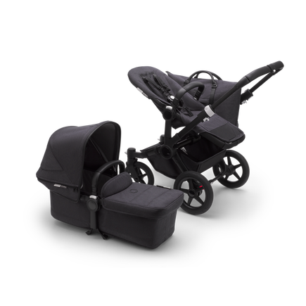 AU - Bugaboo Donkey 3 Duo Seat and Bassinet pram BLACK/WASHED BLACK