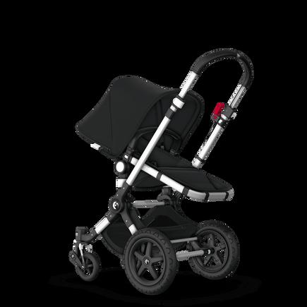 Bugaboo Cameleon 3 Plus seat and bassinet pram black sun canopy, black fabrics, aluminium base