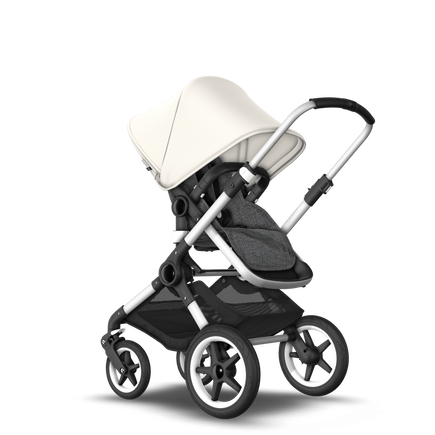 US - Bugaboo Fox stroller bundle aluminum grey melange fresh white