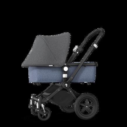 EU - Cameleon 3+ Seat and Bassinet stroller grey melange (nr) sun canopy, blue melange fabrics, black base